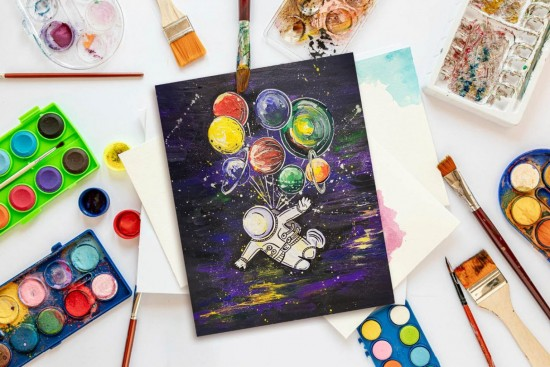 В культурном центре «Вдохновение» создадут космическую картину