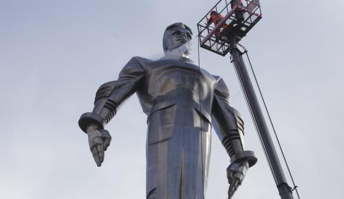 На Юго-Западе Москвы промыли памятник Гагарину