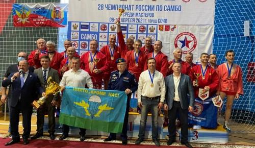 Команда мастеров «Самбо-70» на чемпионате России завоевала 7 медалей