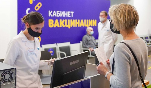 Собянин: Более миллиона москвичей получили первый компонент прививки от COVID-19