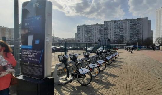 В Северном Бутове начали работу три станции велопроката