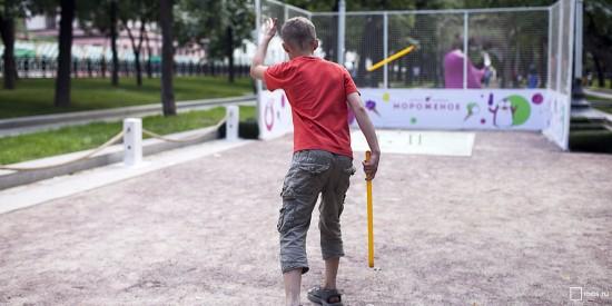 В Академическом районе работает секция городошного спорта