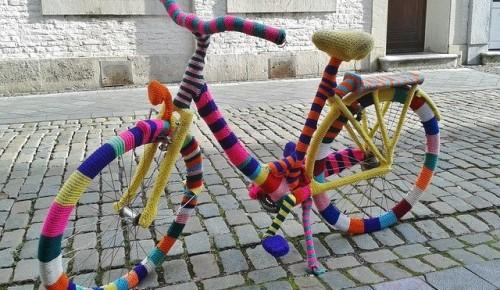 В Котловке появится велосипедная парковка в стиле вязаного граффити