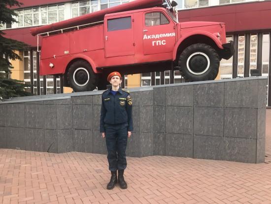 Кадет школы №626 стал призёром городского конкурса «Огонь – друг, огонь –враг»