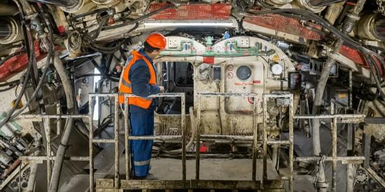 «Виктория» проложила левый тоннель да станции «Улица Генерала Тюленева»