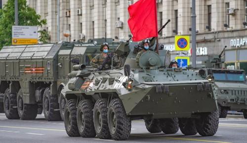 Москвичам напомнили об изменениях в движении транспорта из-за репетиций парада 9 Мая