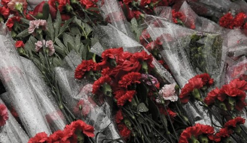 Воспитанники семейного центра «Зюзино»  приняли участие в памятной акции у памятника «Защитникам Москвы»