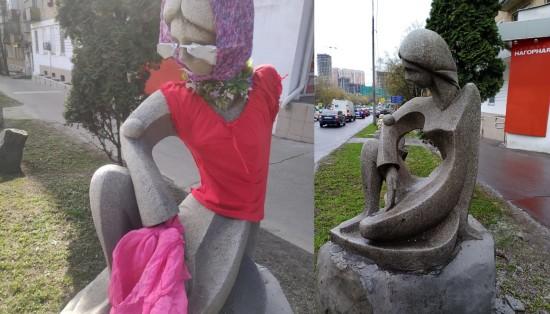 Скульптуру Галю Нагорную раздели в Котловке