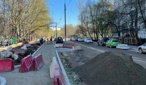 Благоустройство Перекопской улицы продолжается в Черемушках