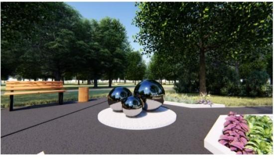 В сквере Котловки появится фонтан в виде трех шаров