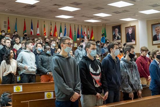 В геологоразведочном университете имени Орджоникидзе прошла акция «Бессмертный полк»