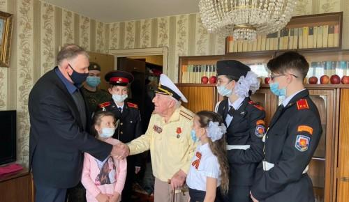Кадеты школы № 2115 поздравили ветерана ВОВ с 90-летним юбилеем