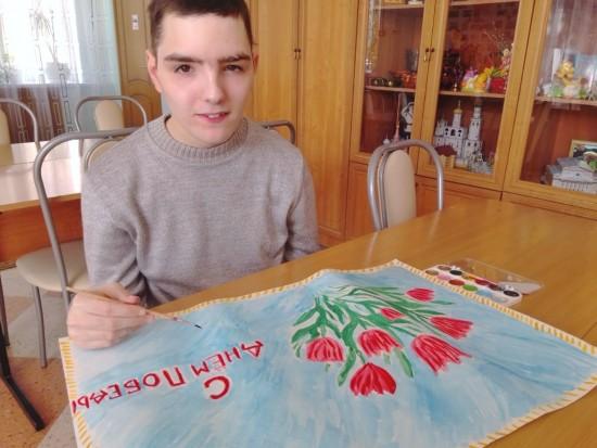 Воспитанники «Юноны» поздравили ветеранов из пансионата № 31 с Днем Победы
