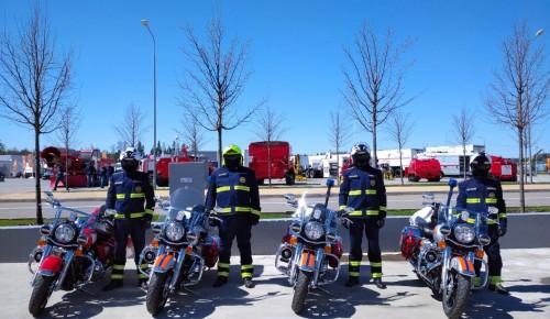 Пожарно-спасательные мотоциклы на комплексной безопасности