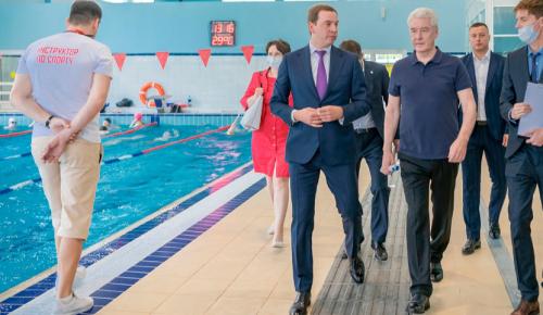 Собянин осмотрел новый ФОК для лиц с ограниченными возможностями здоровья