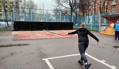 Жители Черемушек заняли третье место на окружных соревнованиях по городошному спорту