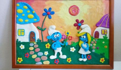 В досуговом центре «Обручевский» прошел мастер-класс по пластилиновой живописи