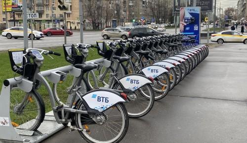 Четыре станции велопроката доступны в Обручевском районе