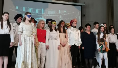 В школе №117 Ломоносовского района прошёл Шекспировский вечер