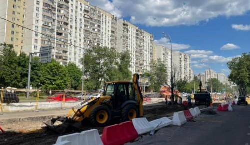 В Черемушках ремонтируют улицу Наметкина
