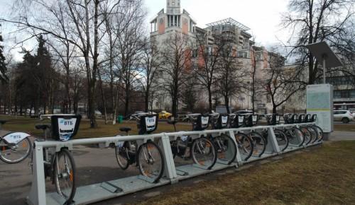В Академическом районе  работает девять пунктов велопроката