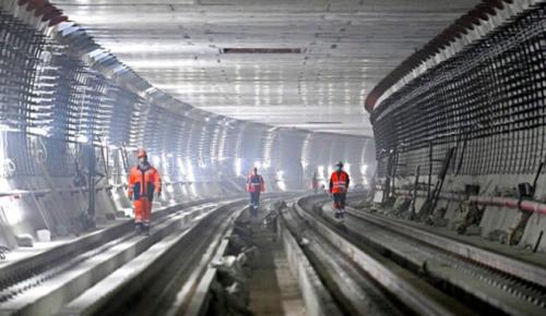 Монолитные работы на станции БКЛ «Кунцевская» завершены на 80%