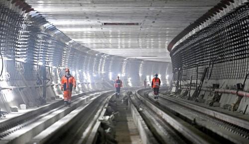 Активное строительство Большого кольца метро в столице продолжается