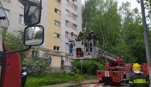 Пожарные ликвидировали возгорание в Коньково