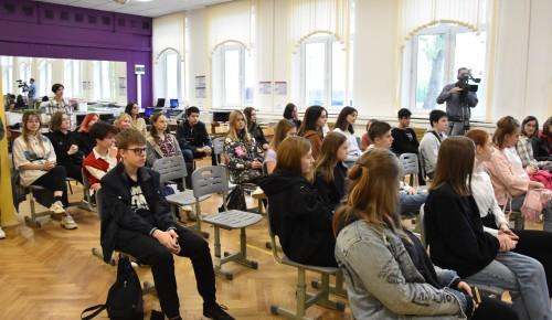 В школе №2086 открыли медиаклассы для изучения журналистики