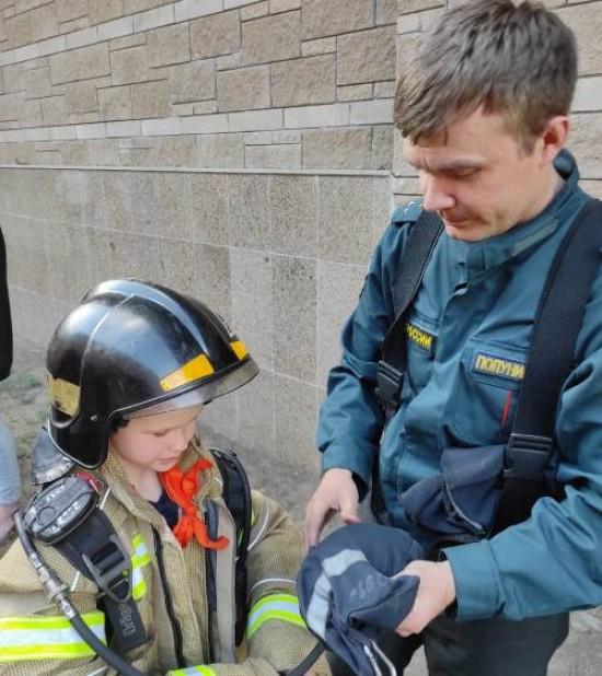 Сотрудники пожарной охраны провели профилактическое мероприятие для детей в Мореоне