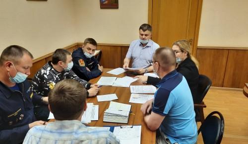 В Управлении по ЮЗАО Департамента ГОЧСиПБ города Москвы прошло совместное совещание с представителями пожарно-спасательных подразделений