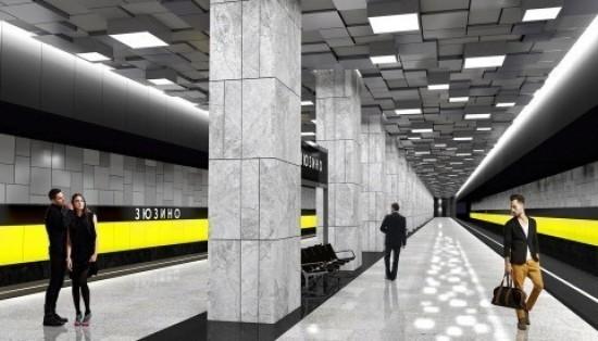 На станции «Зюзино» БКЛ идет строительство выходов и лифтового павильона