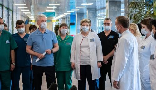Собянин рассказал о наращивании коечного фонда для пациентов с COVID-19