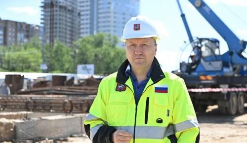 Андрей Бочкарев: Строительная готовность столичной системы хордовых магистралей составляет 57%