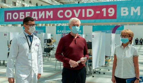 Собянин открыл в Лужниках один из крупнейших в мире центров вакцинации