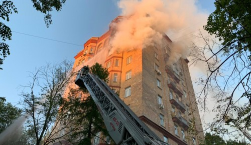 В Университетском проезде произошел пожар в квартире