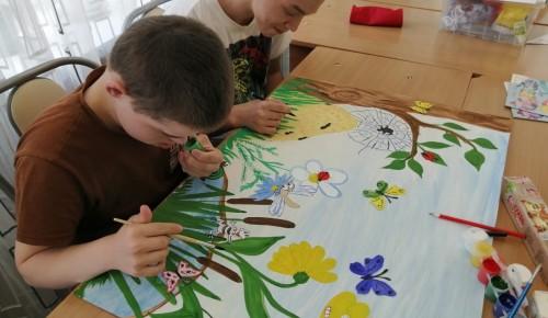 Воспитанники центра «Юнона» познакомились с миром насекомых