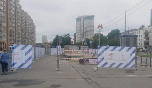 Выход № 1 со станции метро «Новые Черемушки» закрыт на ремонт до 10 октября