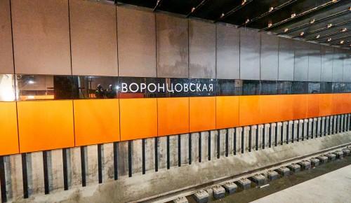 На станции «Воронцовская» завершается монтаж подвесного потолка из 11,6 тыс. элементов