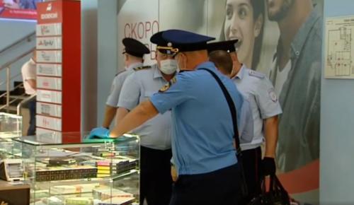 В торговых центрах ЮАО накануне выявили 64 нарушителя масочного режима