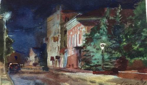 В Академии акварели и изящных искусств Андрияки рассказали о ночных пленэрах, на которые выходят студенты