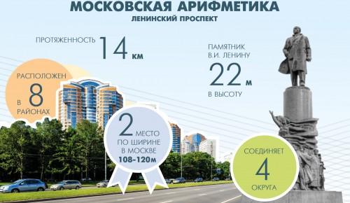 Жителям Теплого Стана привели самые интересные цифры, связанные с Ленинским проспектом