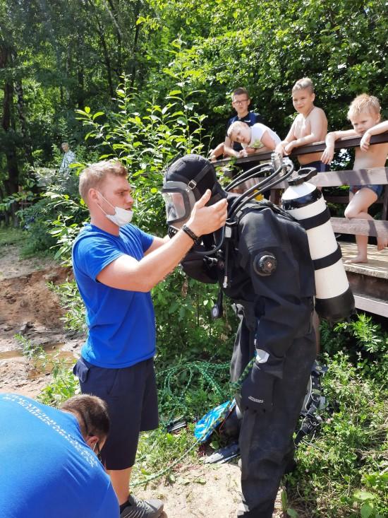 Водолазное обследование дна прошло в зоне отдыха «Тропарево»