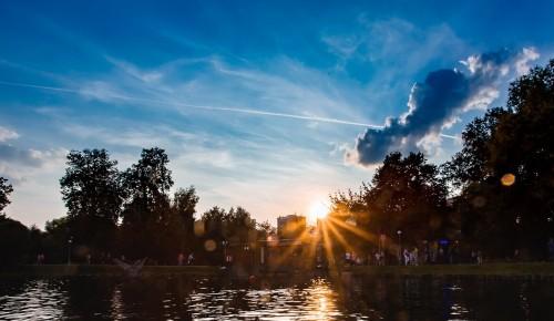В Воронцовском парке можно увидеть живописный закат