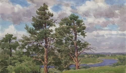 Сергей Андрияка рассказал о картине, написанной в живописном месте Солотча в Рязанской области