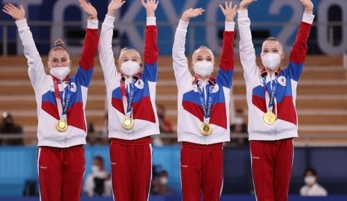 Воспитанница «Олимпии» «Самбо-70» победила в командном многоборье по спортивной гимнастике на Олимпиаде в Токио