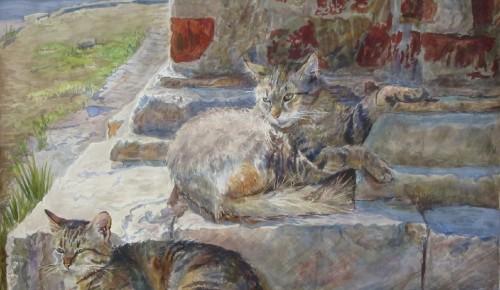 Академия акварели Андрияки рассказала о кошках в живописи
