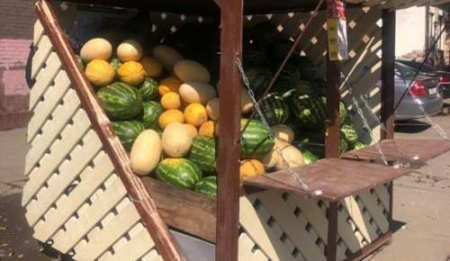 Три специализированные точки по продаже арбузов работают в Черемушках