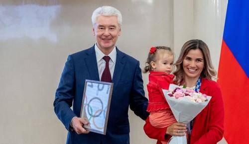 Собянин наградил московских спортсменов - призеров Олимпиады в Токио