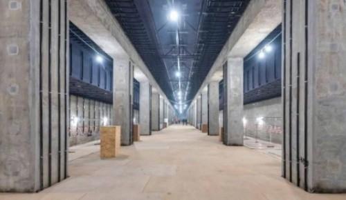 На станции «Зюзино» БКЛ ведутся работы по монтажу декоративных элементов